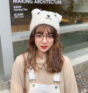 Cute Bear Plush Hat In Autumn And Winter
