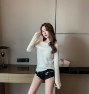 One Shoulder Versatile Design Knit Sweater