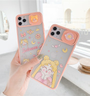 Mobile Phone Three-dimensional Beautiful Girl Cartoon Sliding Window Acrylic Apple Case