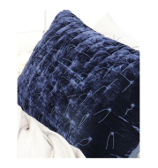 Embroidered Long Pillowcase With Tassel Caramel Sapphire