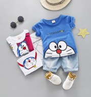 Short-Sleeved Suit Summer New Style Children's Clothing Boys And Girls Summer Suits