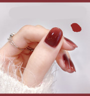 CandyMoyo nail polish free, quick drying, durable, non stripped 2021 new color, white autumn and winter 1