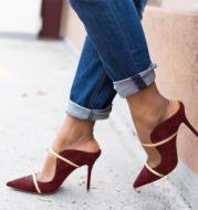 Colorblock Stiletto Women's Large Size Shoes