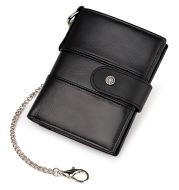 Leather Buckle Prevents Hotlinking Men's Wallet