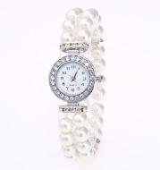 Men's and Women's Pearl String Bracelet Quartz Watch