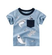 Boys Summer Children's Short-sleeved Cotton T-shirt Male Baby Half-sleeved Top