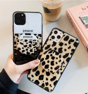 Mirror Holder 8plus Apple X Mobile Phone Case Cute 11pro Leopard Print Application