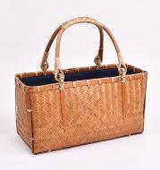 Female Household Simple Folk Handicrafts Tea Ceremony Hand Bag Storage Basket
