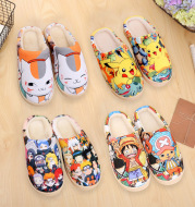 Two-dimensional Animation Peripheral Autumn And Winter Cotton Slippers