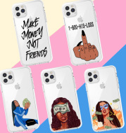 Personalized Girl Phone Case For Transparent TPU Apple 11pro Case