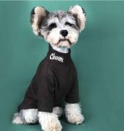 Dog Cat Tide Brand Padded High Neck Long Sleeve Bottoming Shirt