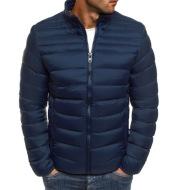 Fashion Men's Solid Color Simple  Cotton Coat