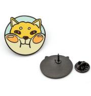 Cute Chubby Puppy Hard Enamel Pin Fashion