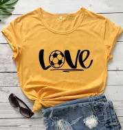 Football with Love European and American Women's Top Short Sleeve
