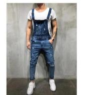 European And American Baggy Jeans Suspenders For Men With Holes