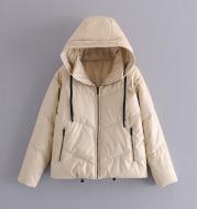 Faux Leather Cotton Jacket Women's Cotton Jacket