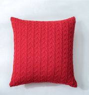 Double Twist Button Knitted Pillowcase Without Core