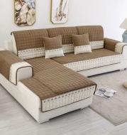 Plush Cloth Art Anti-slip Simple Nordic Whole Package Universal Sofa Cover