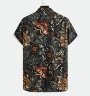 European And American National Style Printed Shirt