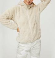 Casual Solid Color Long Sleeve Fleece Hoodie