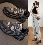 Shoes women 2020 new thick soled women''s shoes versatile sports shoes black fashion net red daddy shoes spring 2021