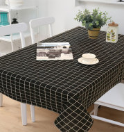 Rectangular Lattice Table Cover Coffee Table Restaurant Waterproof Tablecloth