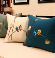Chinese Embroidered Throw Pillow Sofa Cover Pillow Without Core