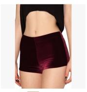 Gold Velvet Shorts Women Spring Style Trendy Korean Casual Pants