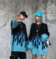 Flame Loose Couple Knit Sweater