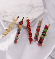 One Word Clip Turquoise Candy Color Hairpin