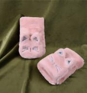 Cute Lucky Cat Bunny Plush Flip Lady Gloves