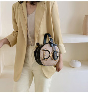 Western Style Small Round Bag Shoulder Messenger Handbag