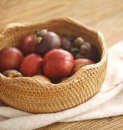 Woven Rattan Holds Fruit Baskets, Candies, Snacks And Snack Plates