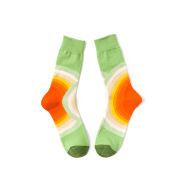Style Literary Color Happy Middle And High Tube Niche Female Tide Calf Cotton Socks
