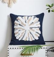 Mediterranean Style Simple Cotton Canvas Pillow