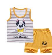 Children's Short-sleeved Suit Summer Cotton