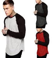Men's Color Block Long Sleeve T-Shirt