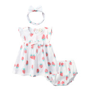 Girls Strawberry Summer Dress Suit