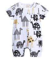 Summer Slub Cotton Short Sleeve Baby Onesies
