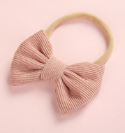 Cute Multicolor Corduroy Bow Baby Headband
