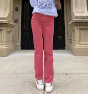 New Sexy Women's Corduroy Plain Casual Straight Pants
