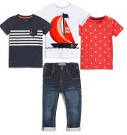 Children's Suit Boys Summer Short Sleeved T Shirt