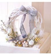 Christmas Vine Wreath Wicker Rattan Crafts Flower Arrangement Garland