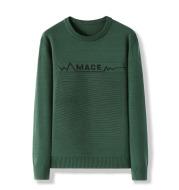 Men's Long Sleeve Crew Neck Letter Sweater