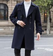 Men's Autumn Winter Coat In Long Woolen Coat