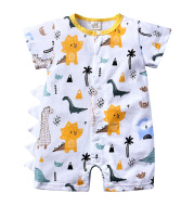 Baby Clothes One-piece Cartoon Dinosaur Short-sleeved Baby Romper
