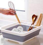 Folding Kitchen Dish Drainer Drying Rack Tableware Plate Holder Dinnerware Shelf Storage Organizer Kitchen Accessories