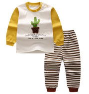 Children's Home Wear Long Sleeve Baby Thermal Pajamas Baby Underwear Set Kids