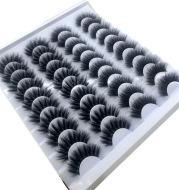 NEW 20 Pairs 8-25mm Fake Eyelashes 100 Mink Eyelashes Mink