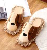 Cartoon Removable Mute Floor-Wipe Loafers